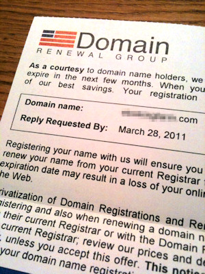 domain renewal group letter