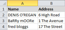 how to make all letters uppercase in excel