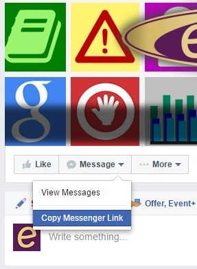 how to set up automatic message on facebook page
