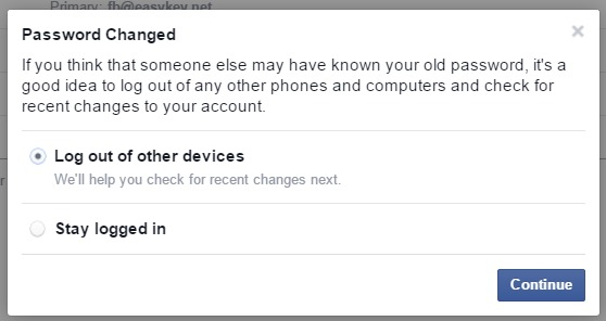 log out of other facebook devices