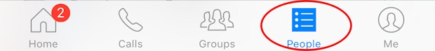 people icon in messenger