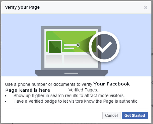 How to Verify Your Facebook Page | Facebook Help | Harlow