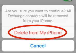 iphone delete contacts
