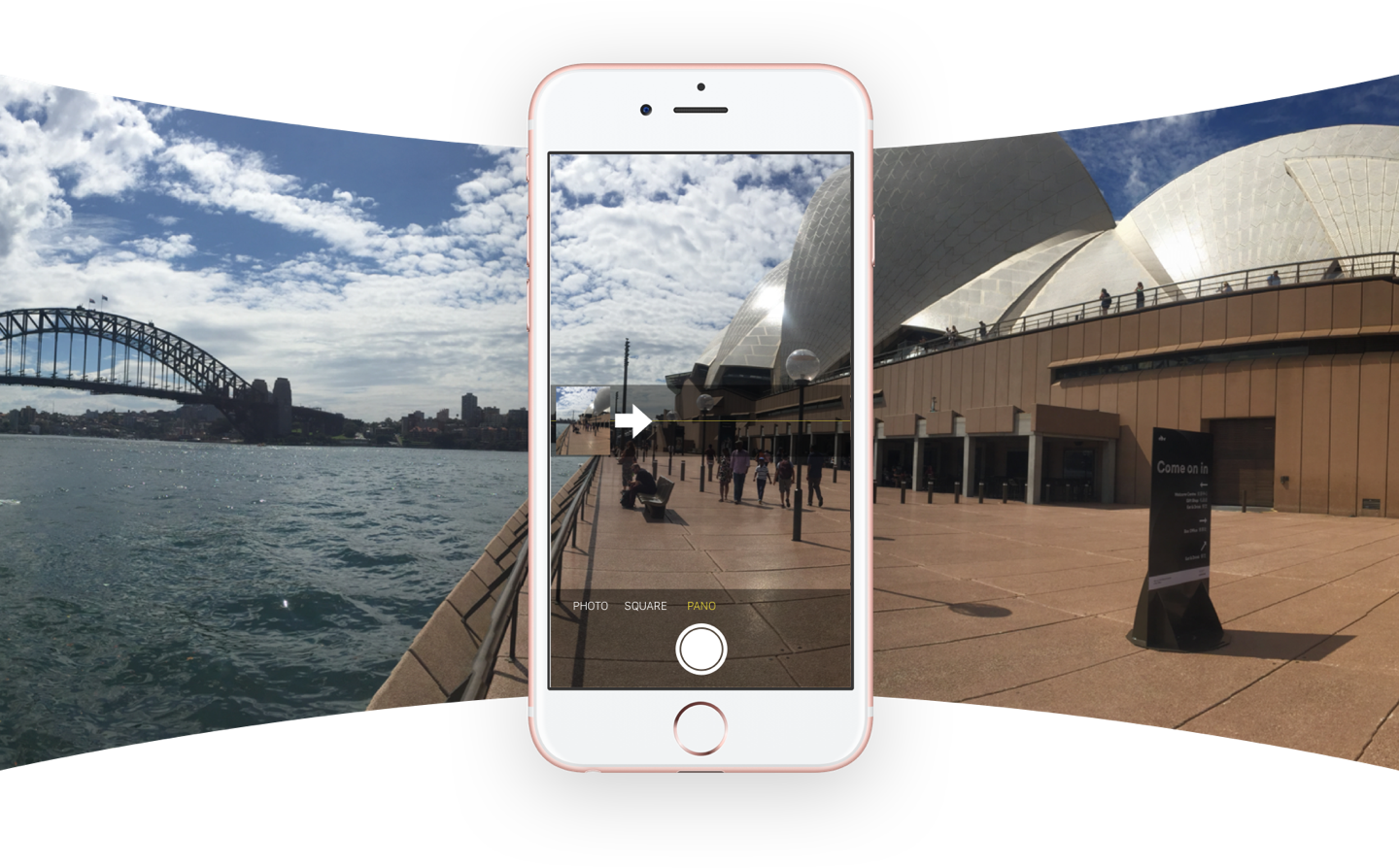 Taking a panoramic photo on your iPhone