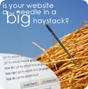 is your website a tiny needle in a big haystack?