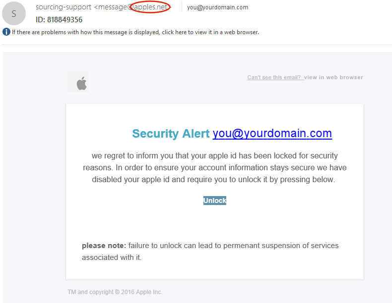 Apple Security Alert Scam | Harlow, Bishop's Stortford, Essex