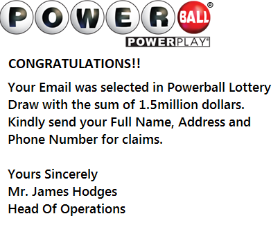 Powerball Lottery scam