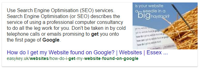 An example of a Featured Snippet in Google