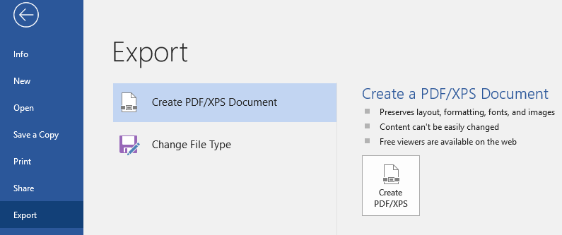 Export Passworded PDF from Word
