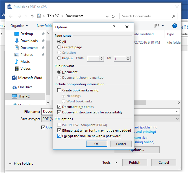 How To Password Protect A PDF File With Word