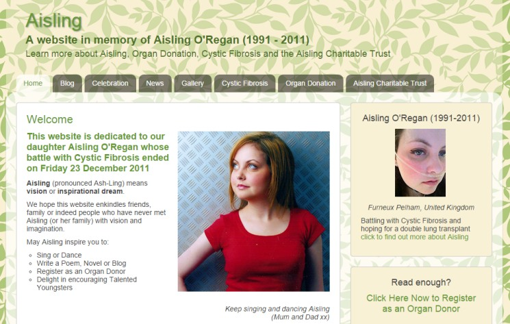 In Memory of Aisling O'Regan