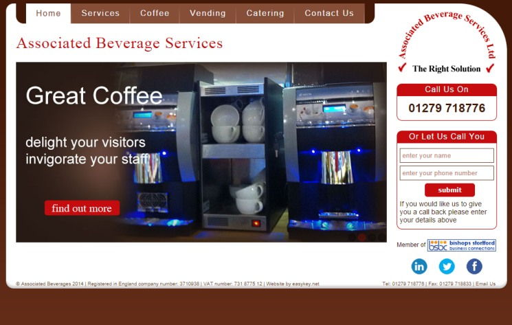 Associated Beverages - Coffee Vending service Herts