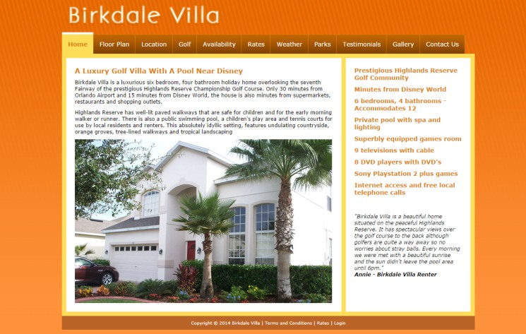 Birkdale Villa - 6 bedroom holiday home Orlando