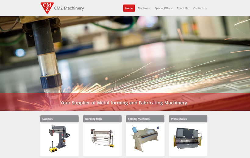 CMZ Machinery-Metal forming and fabricating machinery