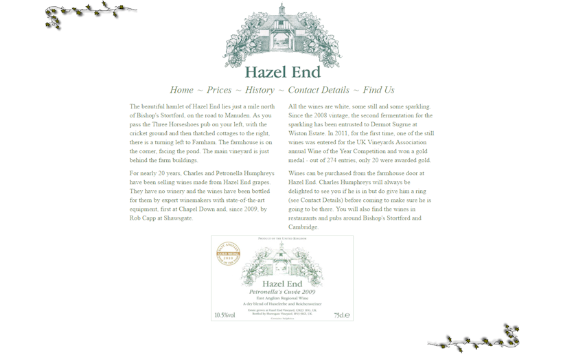 Hazel End Vineyard
