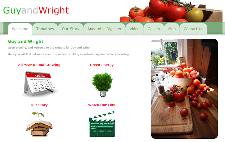 Guy and Wright - Long season Tomatoes, Green Energy Production, Bio Mass Disposal of Green Vegetable Waste