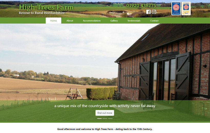 High Trees Farm - Hertfordshire Rural Holiday Cottage