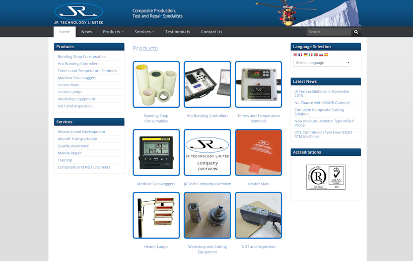 JR Technology - Composite test and repair specialists and production engineers