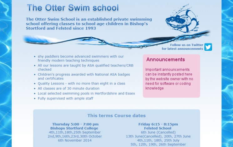 The Otter Swim School