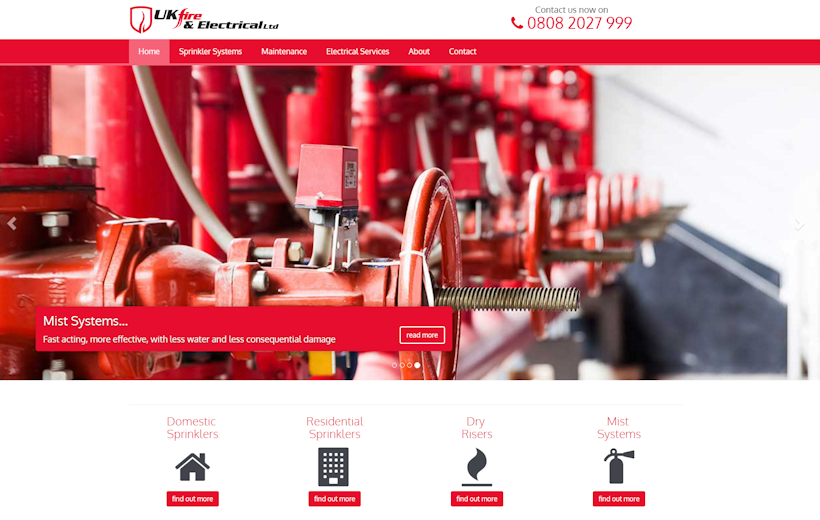 UK Fire and Electrical Ltd | Home Fire prevention | Automated Wet and Dry Sprinkler systems | Harlow and South East UK